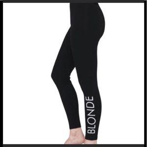 NWT Brunette the Label Blonde black leggings